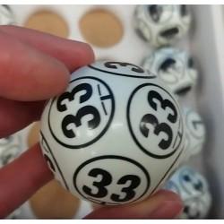 Bingo Balls Black&White